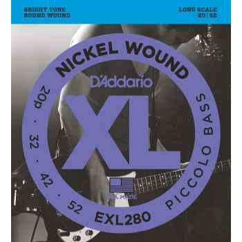 D´addario EXL280 Nickel Wound Piccolo Bass cuerdas para bajo